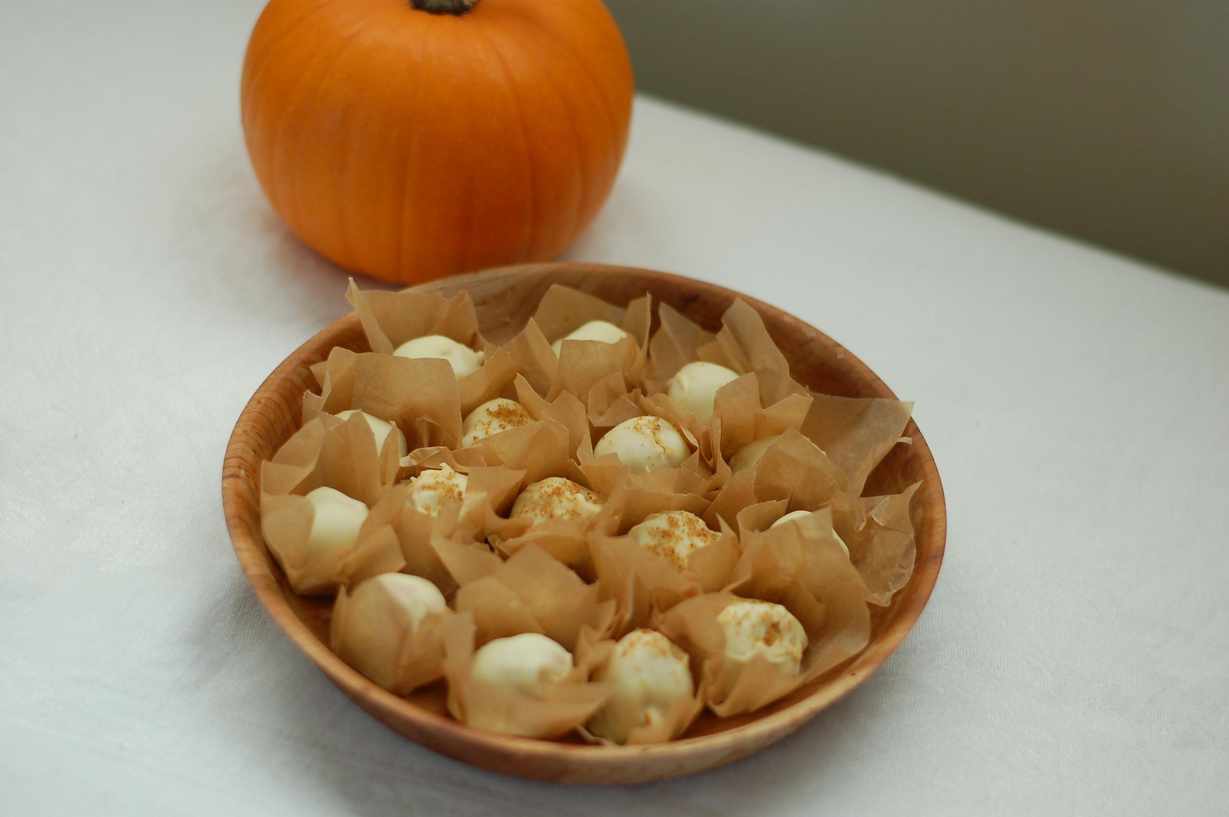 Pumpkin & Cream Cheese Truffles