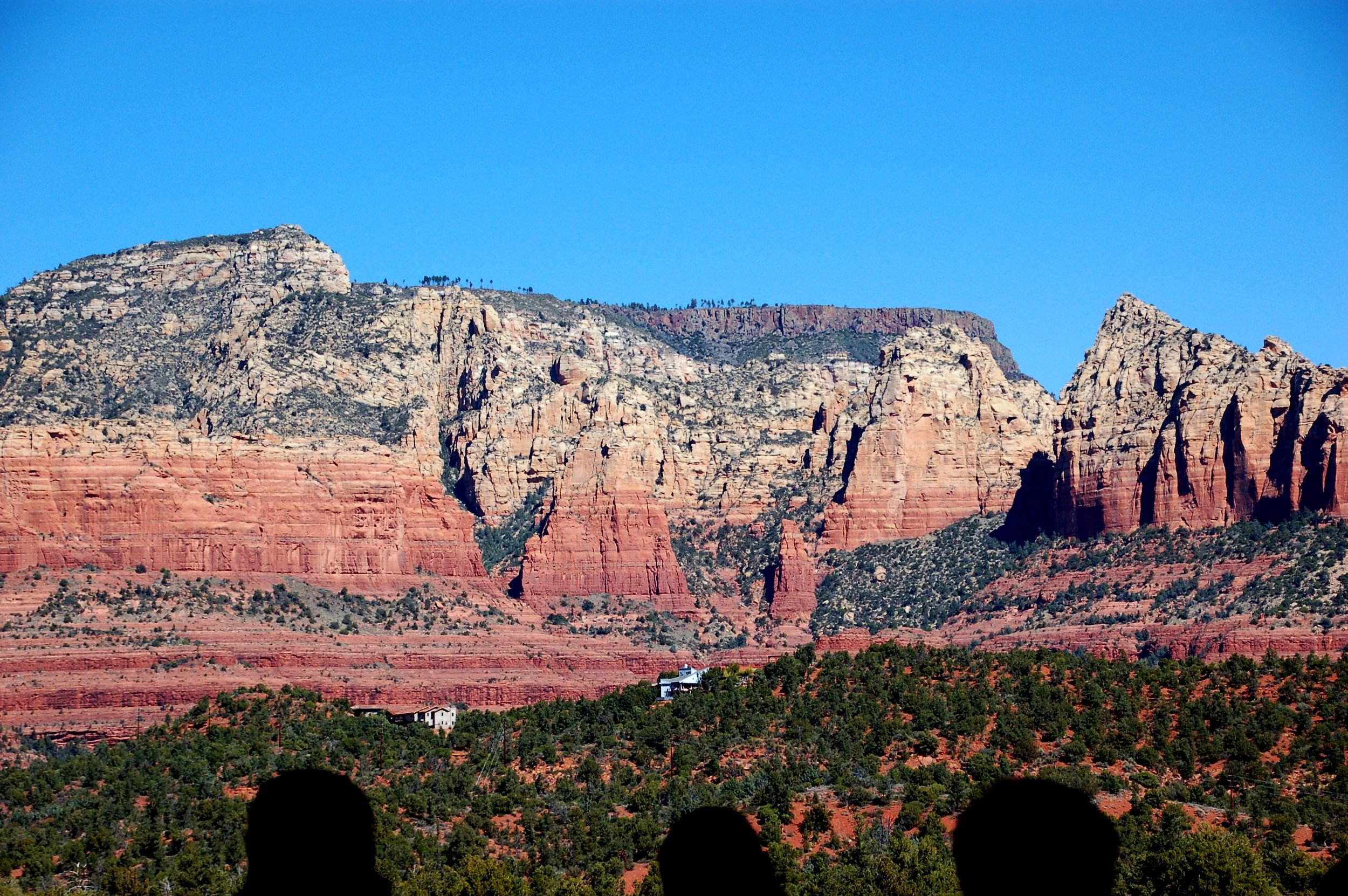 This was the view from Mariposa Latin Grill in Sedona