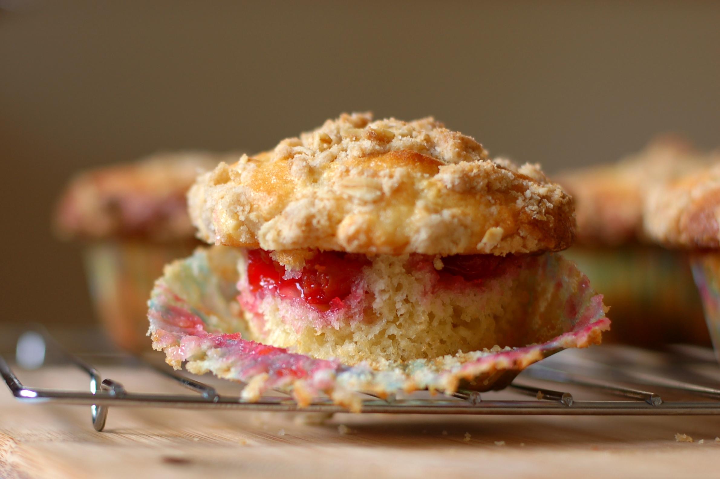 Tart Cherry Cream Cheese Muffins