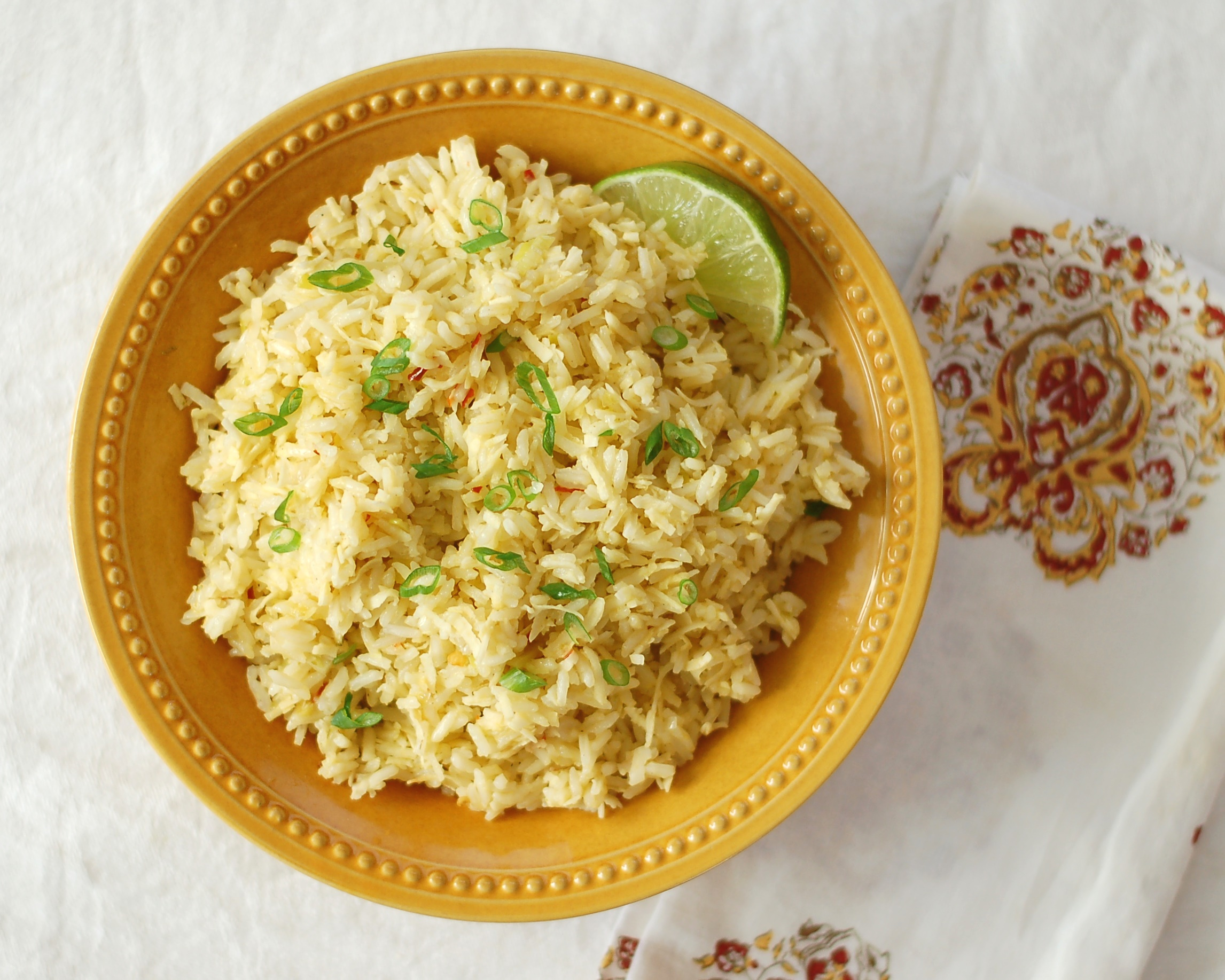 Coconut Ginger Lime Rice