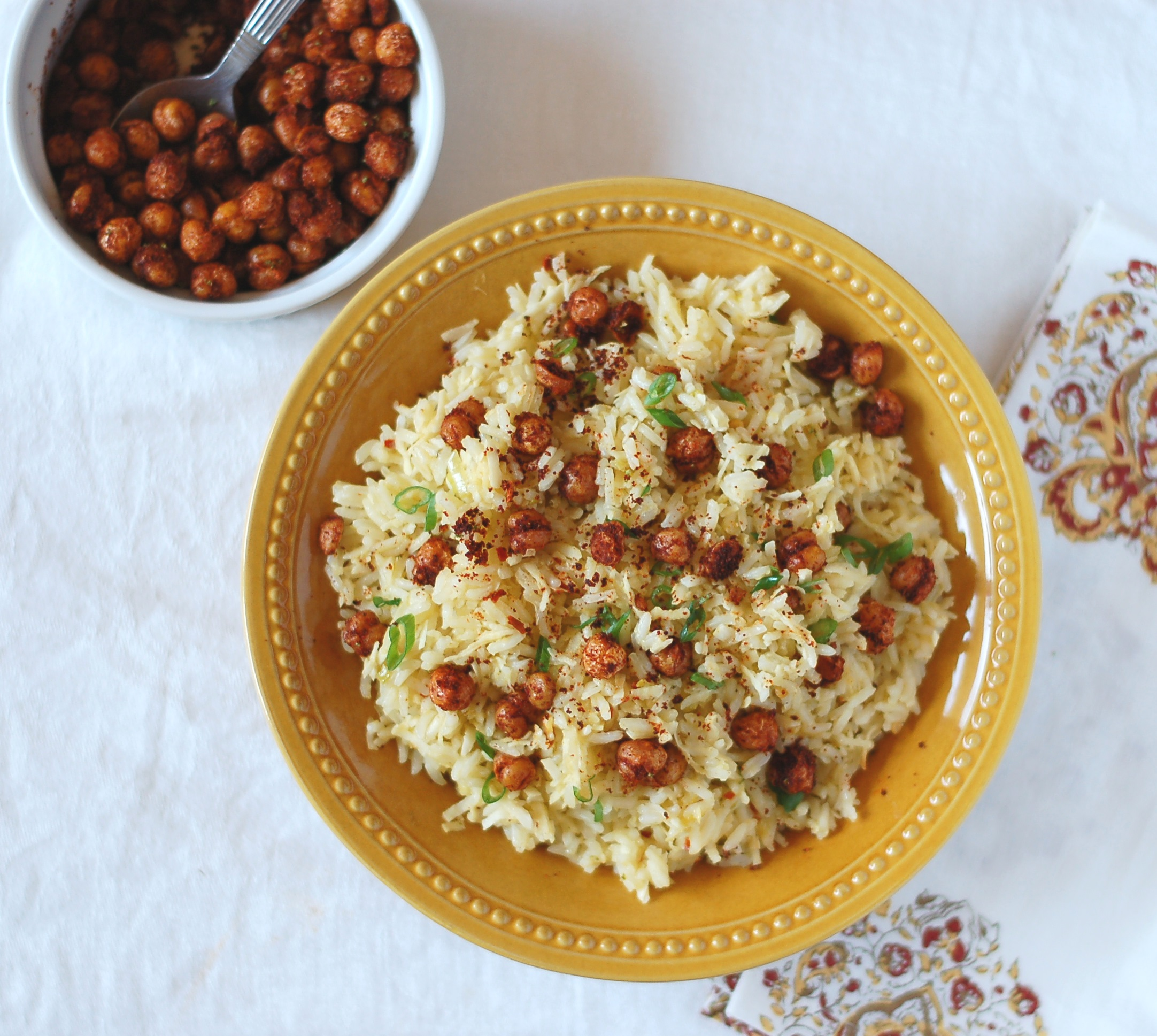 Coconut Rice with Toasted Chickpeas