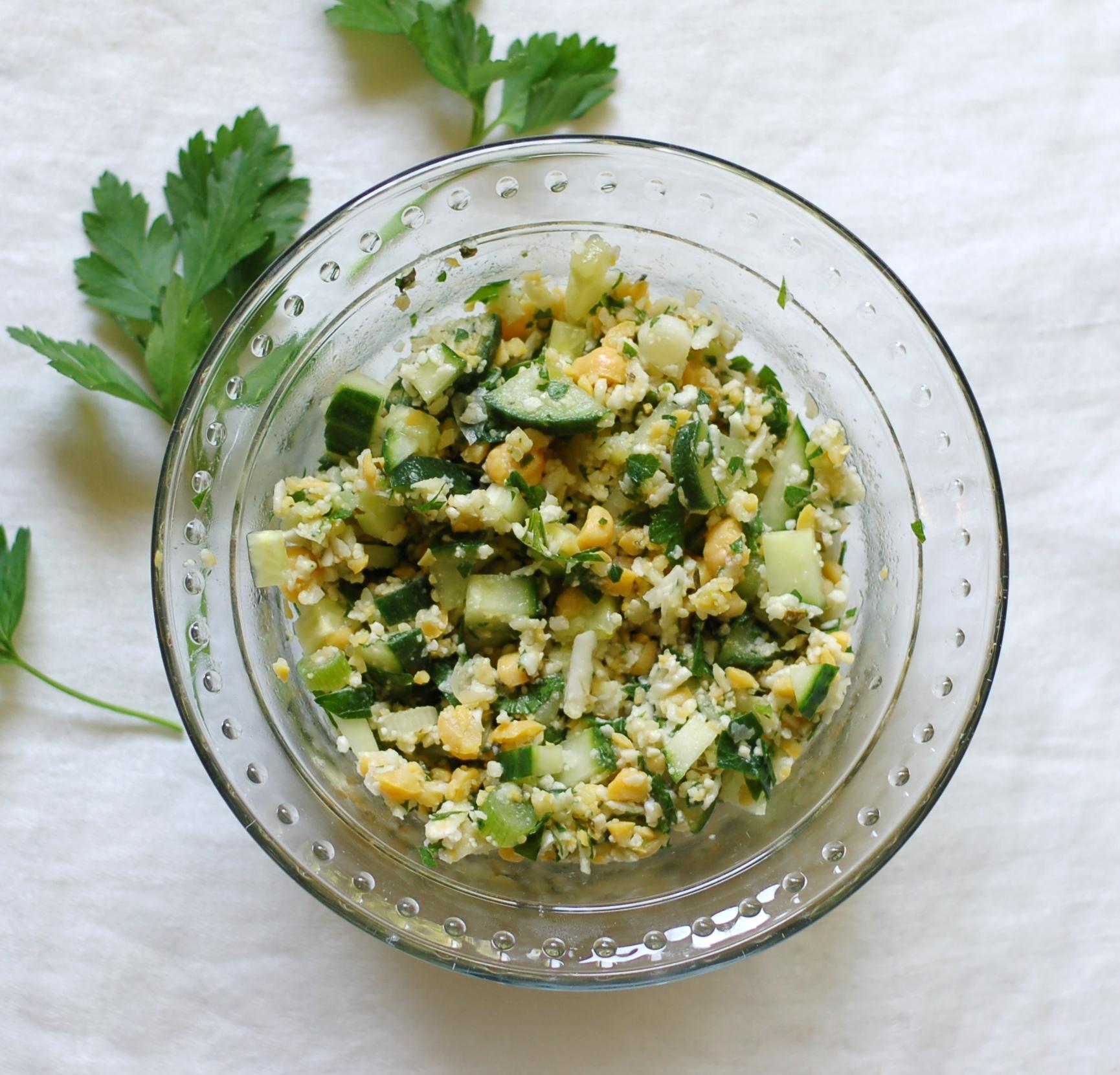 Cauliflower & Chickpea Salad