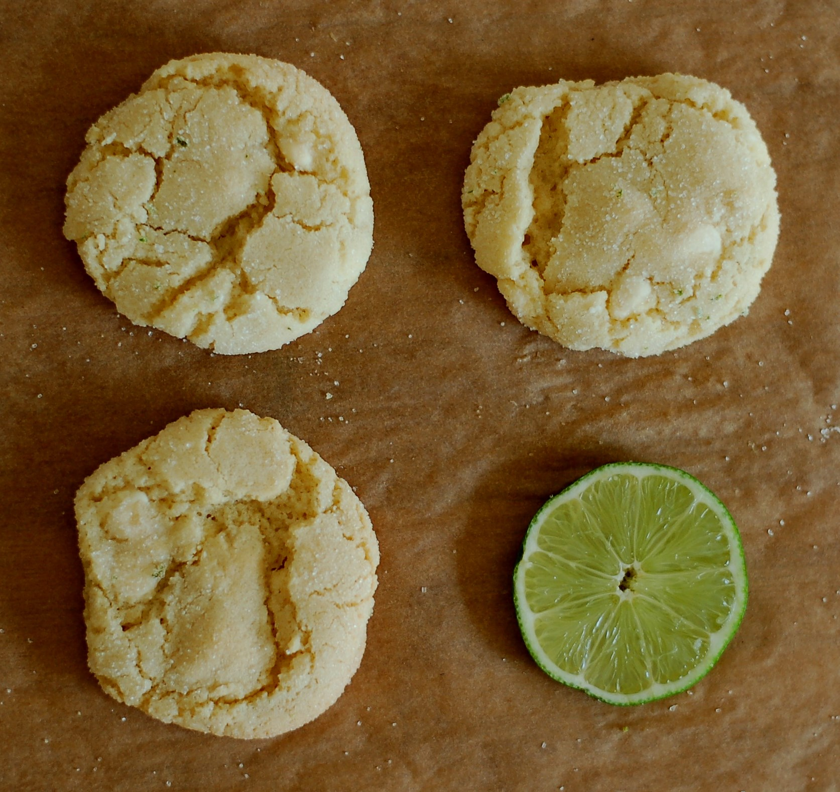 Lime & White Chocolate Chewy Sugar cookies