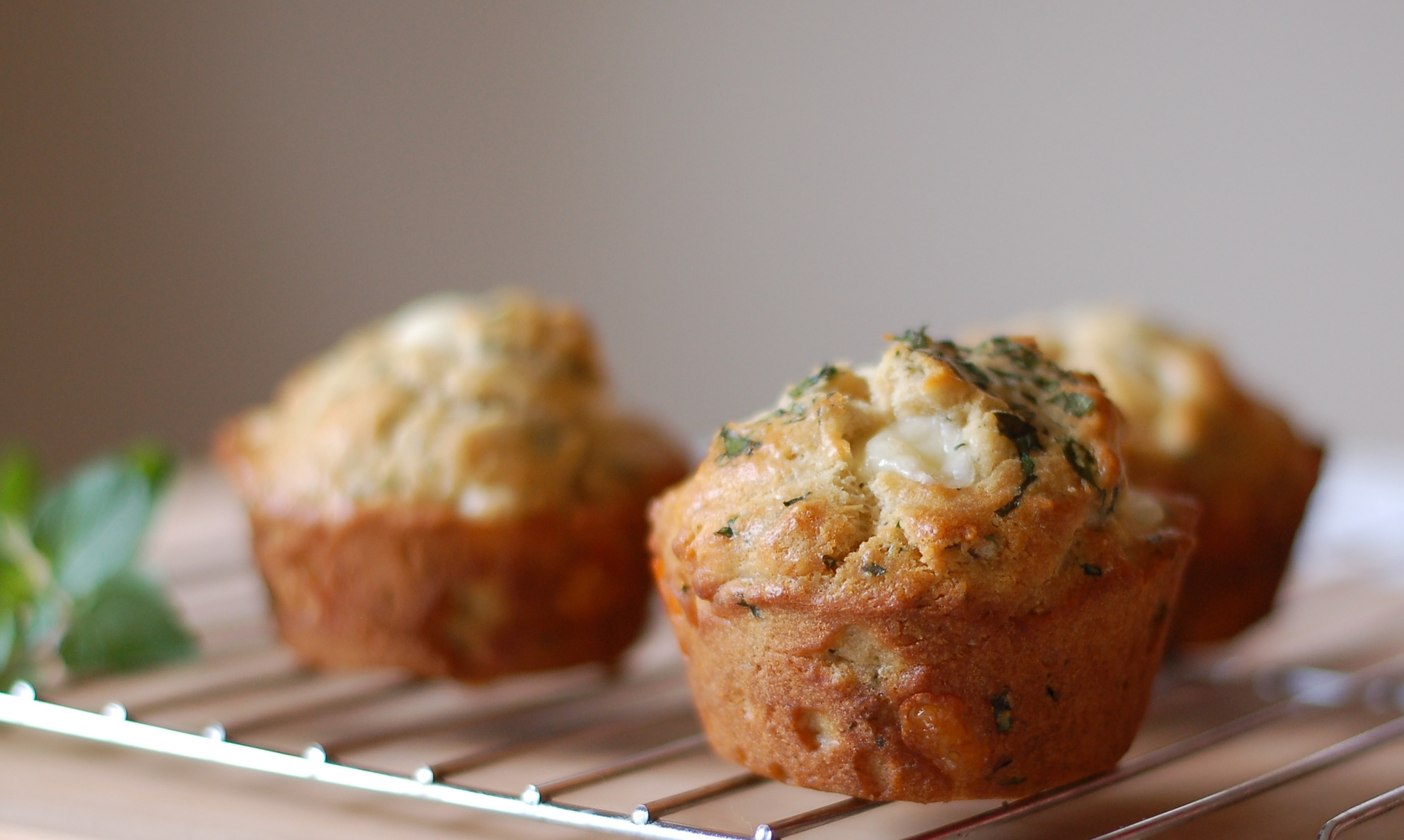 Cheese Curd & Oregano Muffins