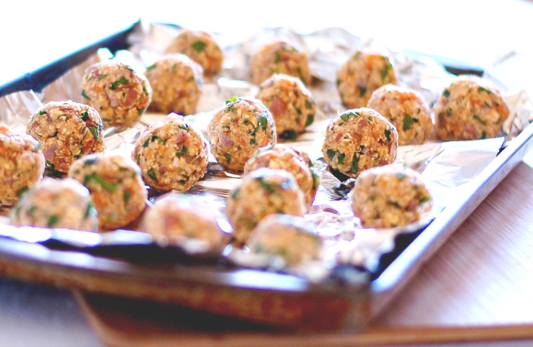 Sweet potato meatless balls