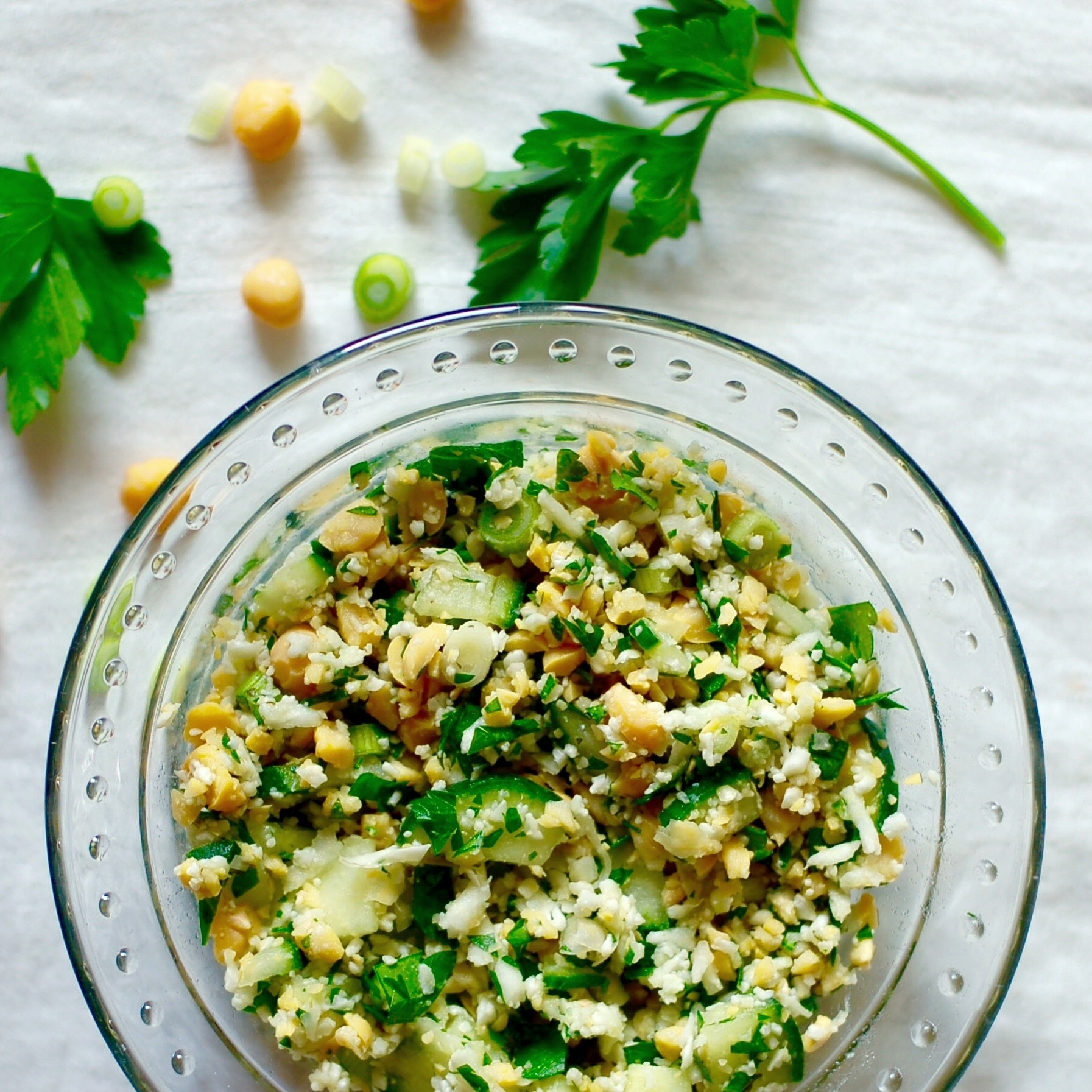 Chickpea & Cauliflower Salad