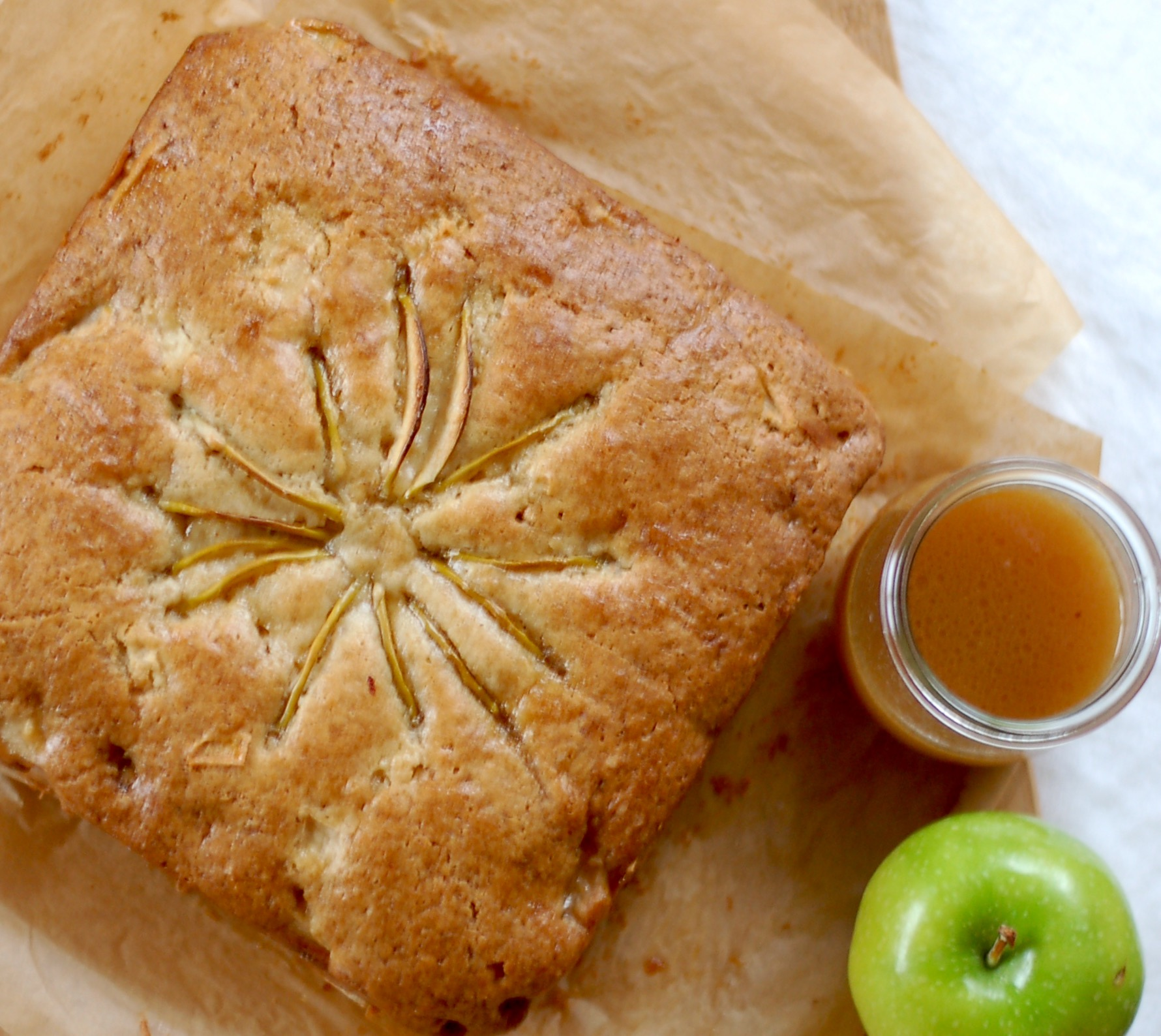 Apple Cake With Cider & Maple Syrup Sauce
