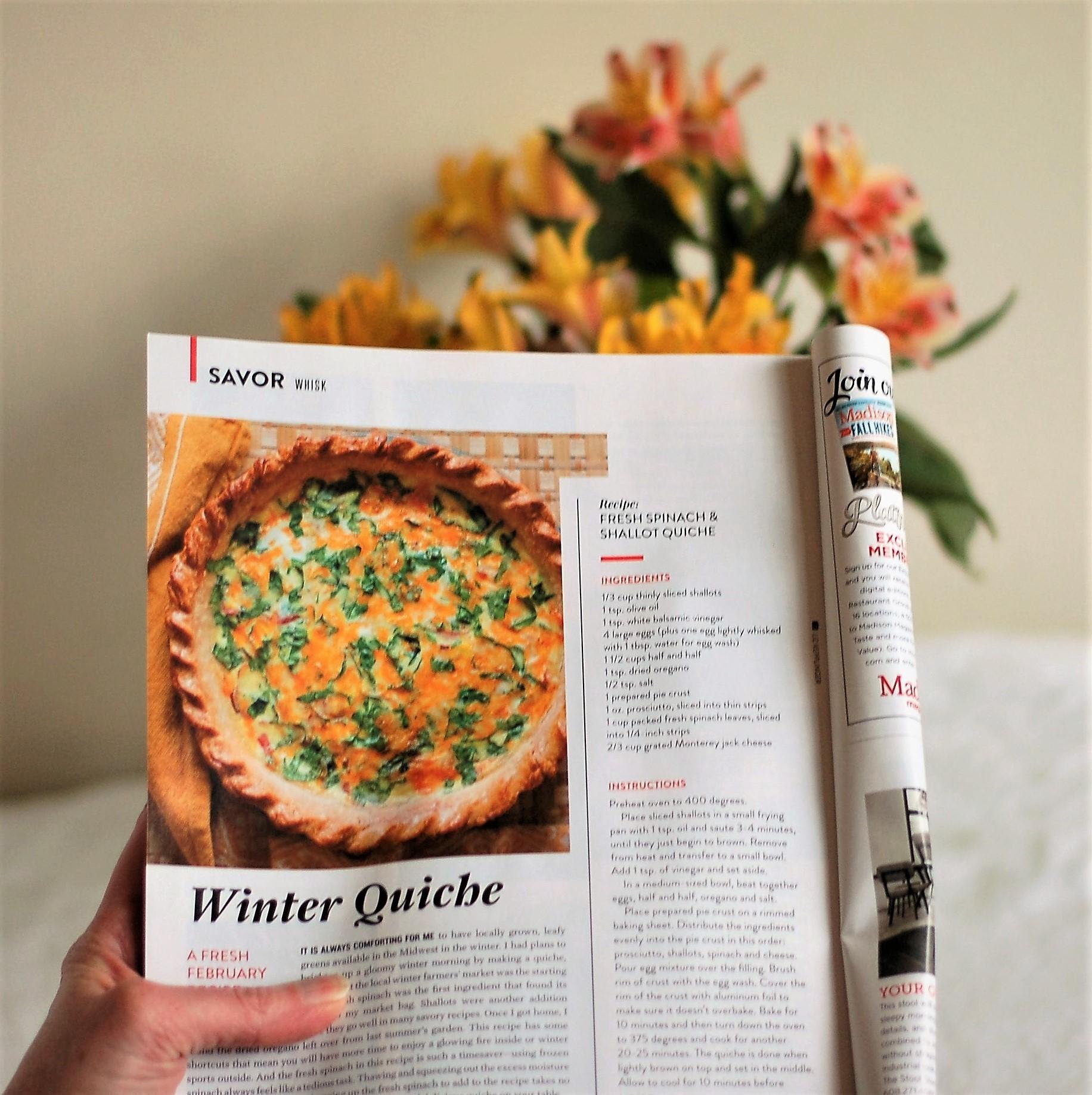 Madison Magazine Quiche Recipe