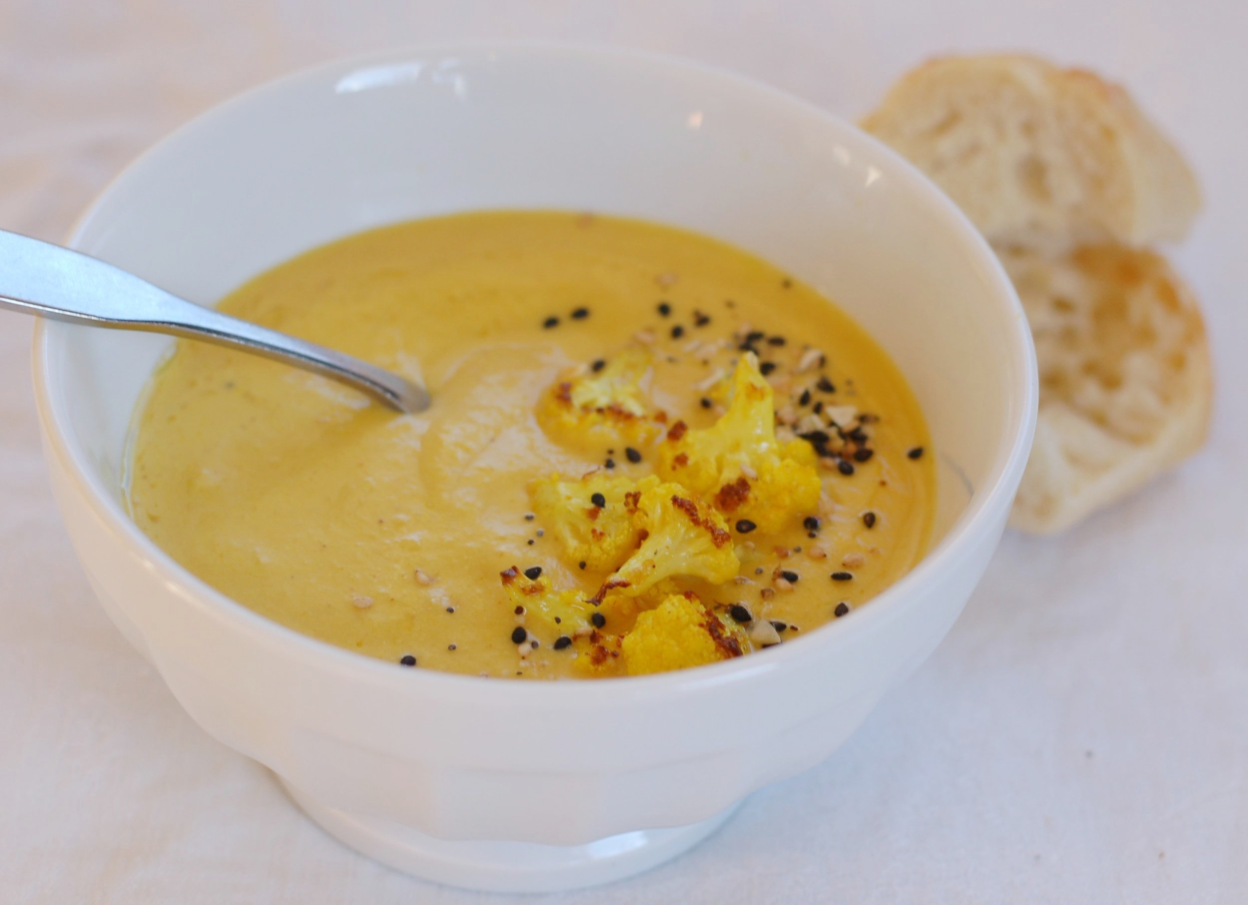 Roasted Cauliflower and Turmeric Soup