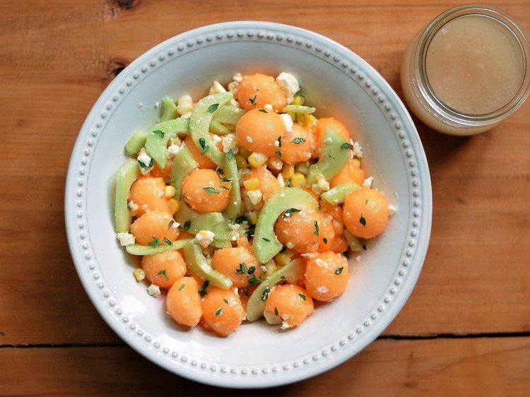 Melon, Cucumber & Corn Salad