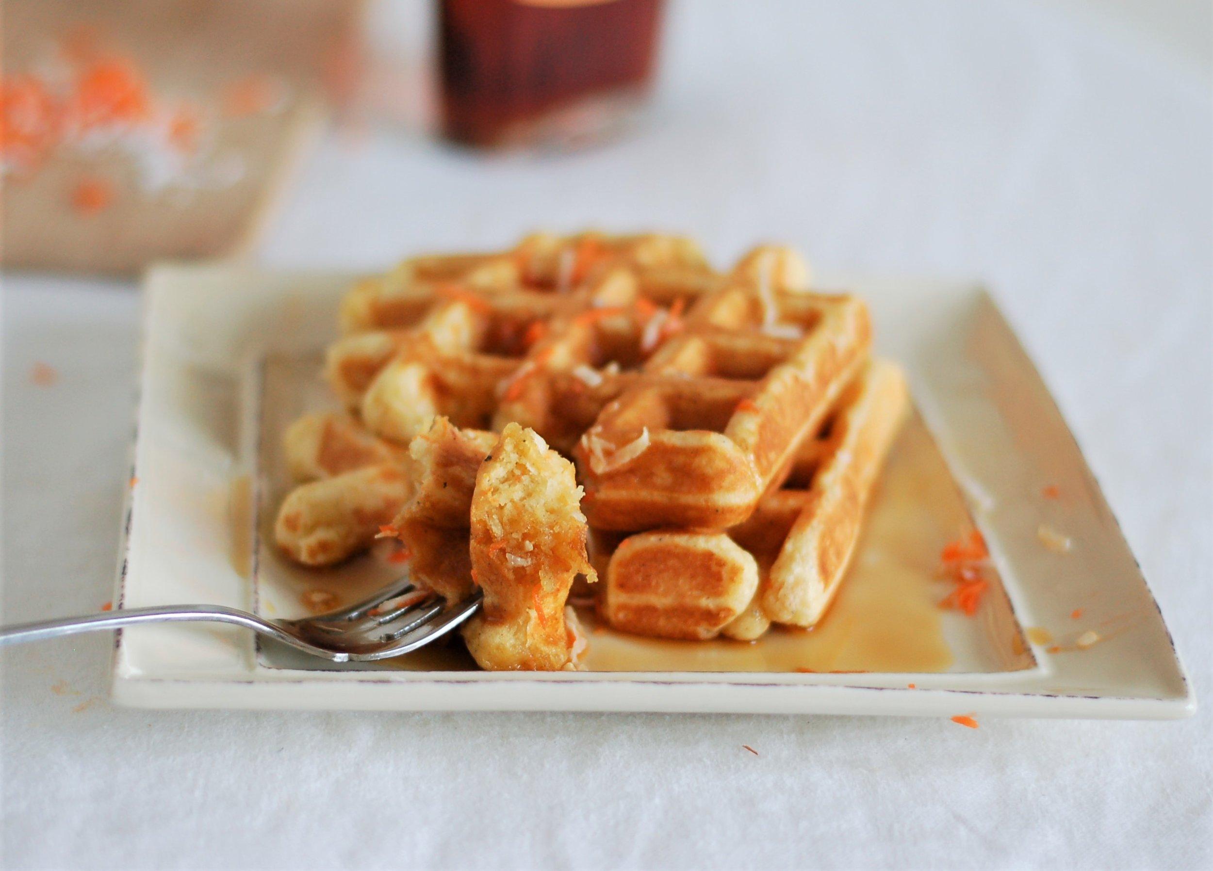 Carrot & Coconut Waffles