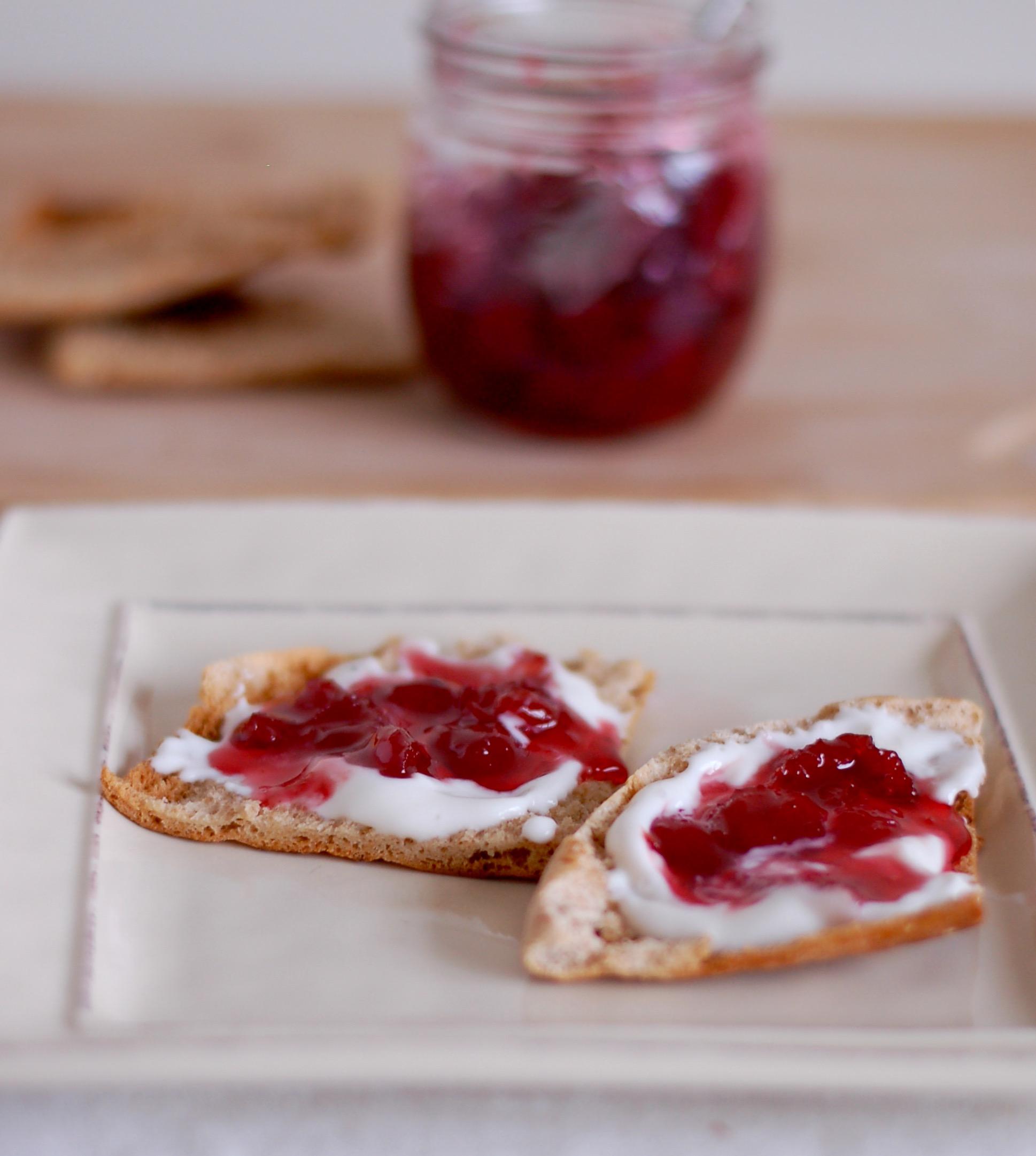Tart Cherry Jam for my aunt Bonnie