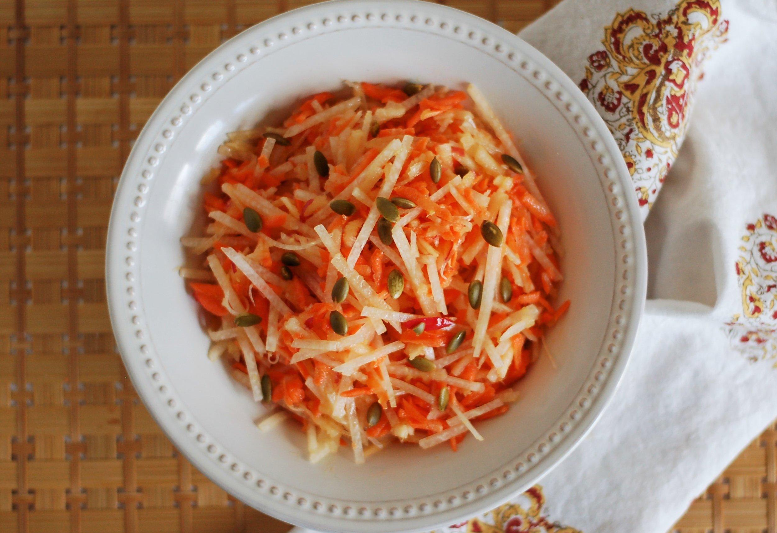 Jicama, Apple & Carrot Salad