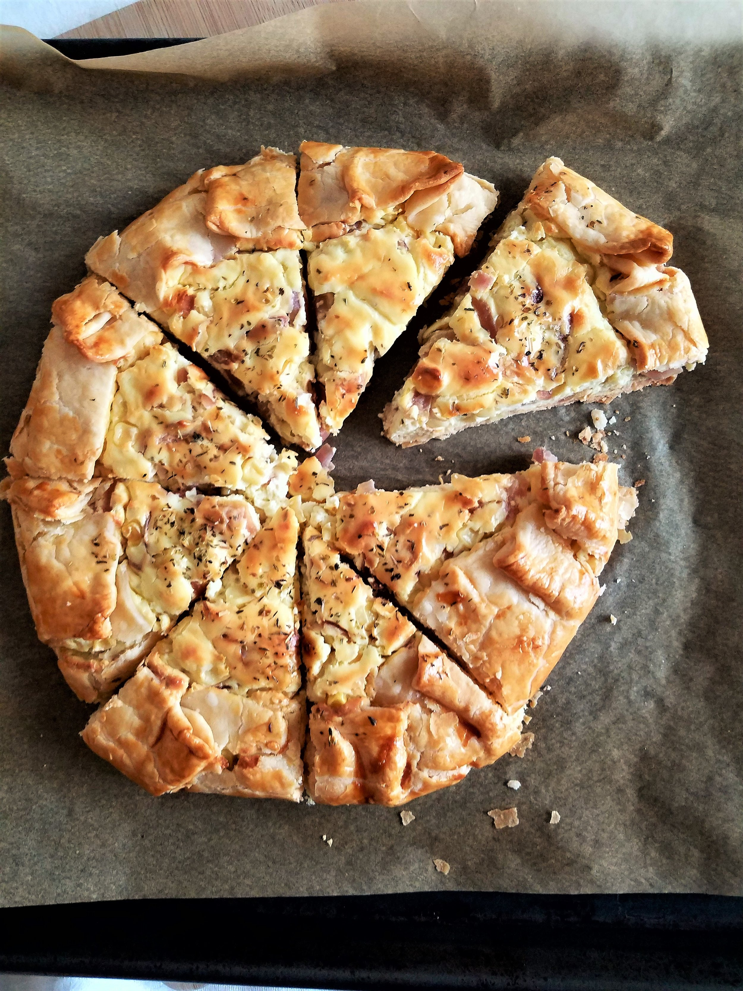Corn & Goat Cheese Galette