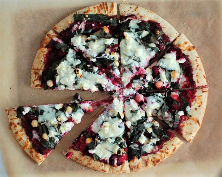 Swiss Chard & Beet Pizza