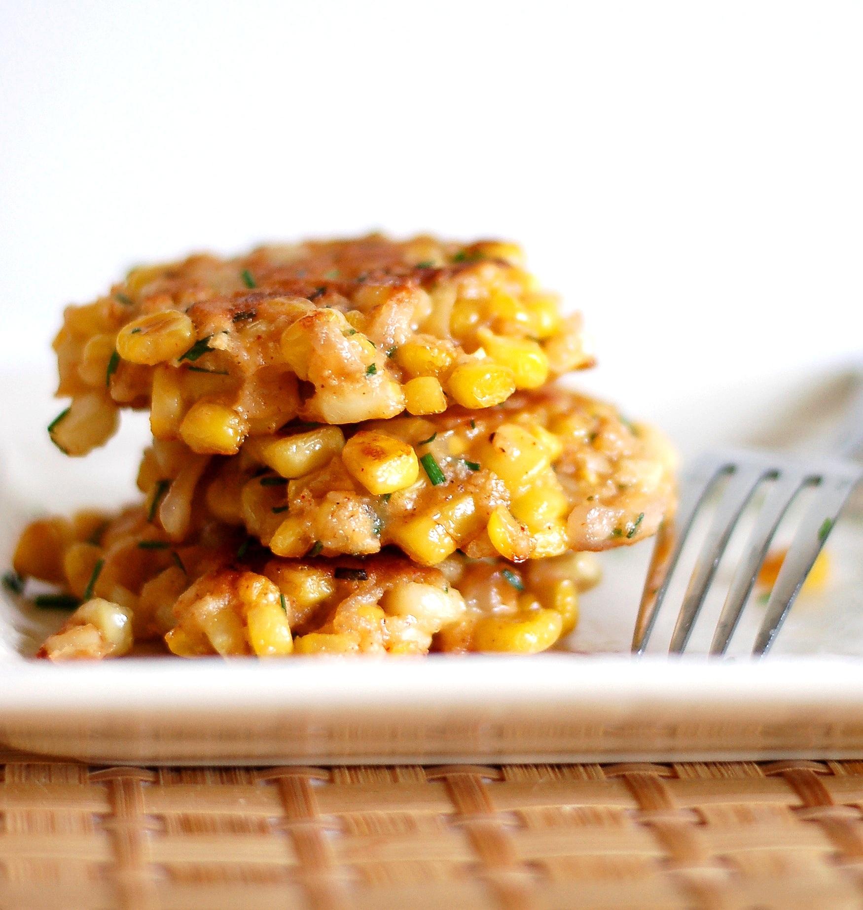 Corn+%26+Shallot+Fritters