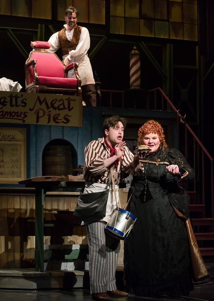Tobias Ragg in  Sweeney Todd  with Madison Opera. (Photo credit: James Gill)