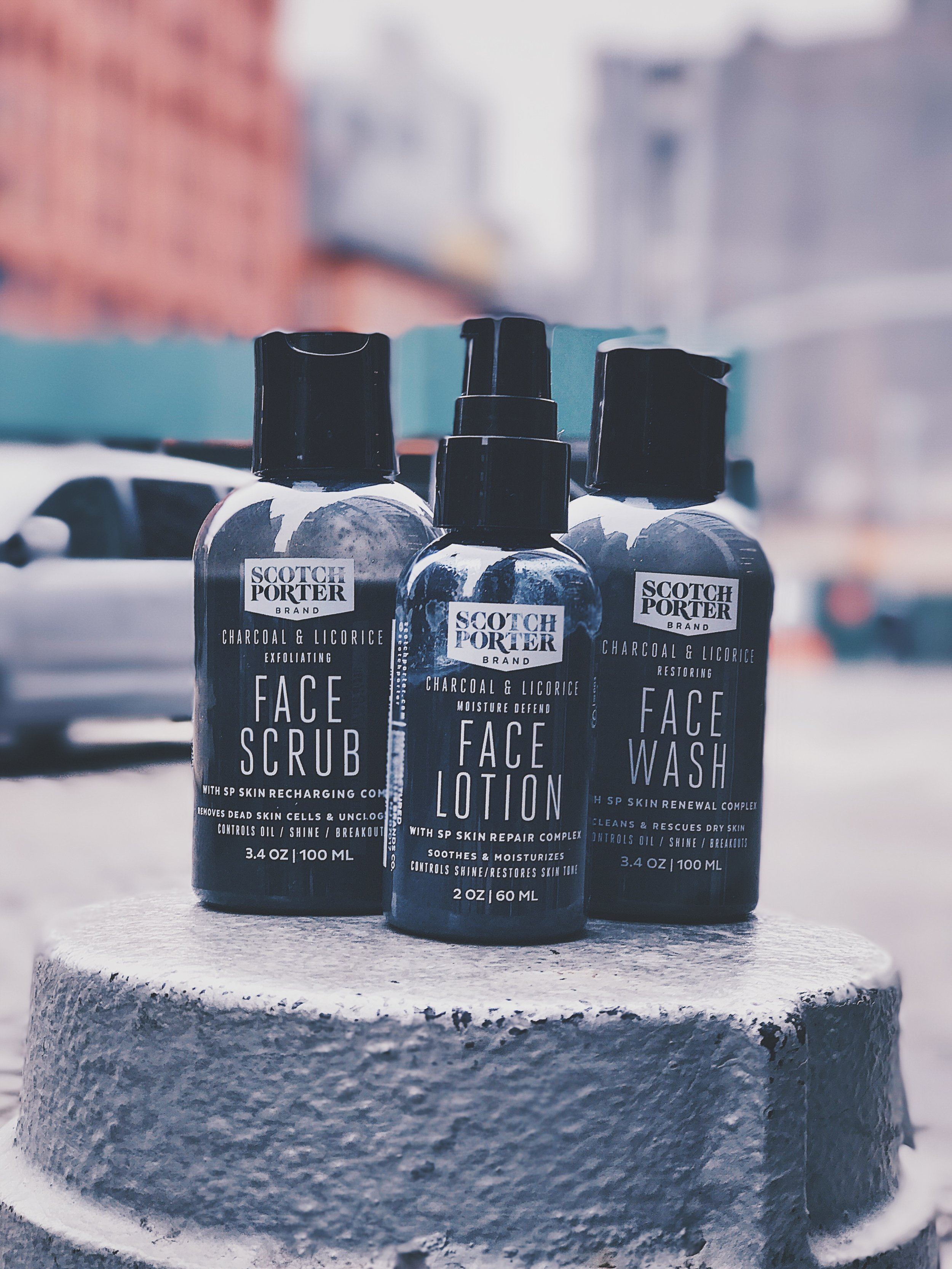 Scotch Porter Skincare Line. A MUSTHAVE.