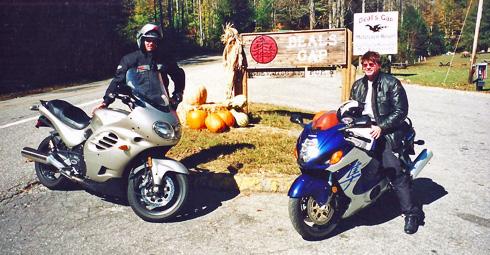 Dan Scharfenberg (L) and Steven Flinn (R ) at Deal's Gap NC