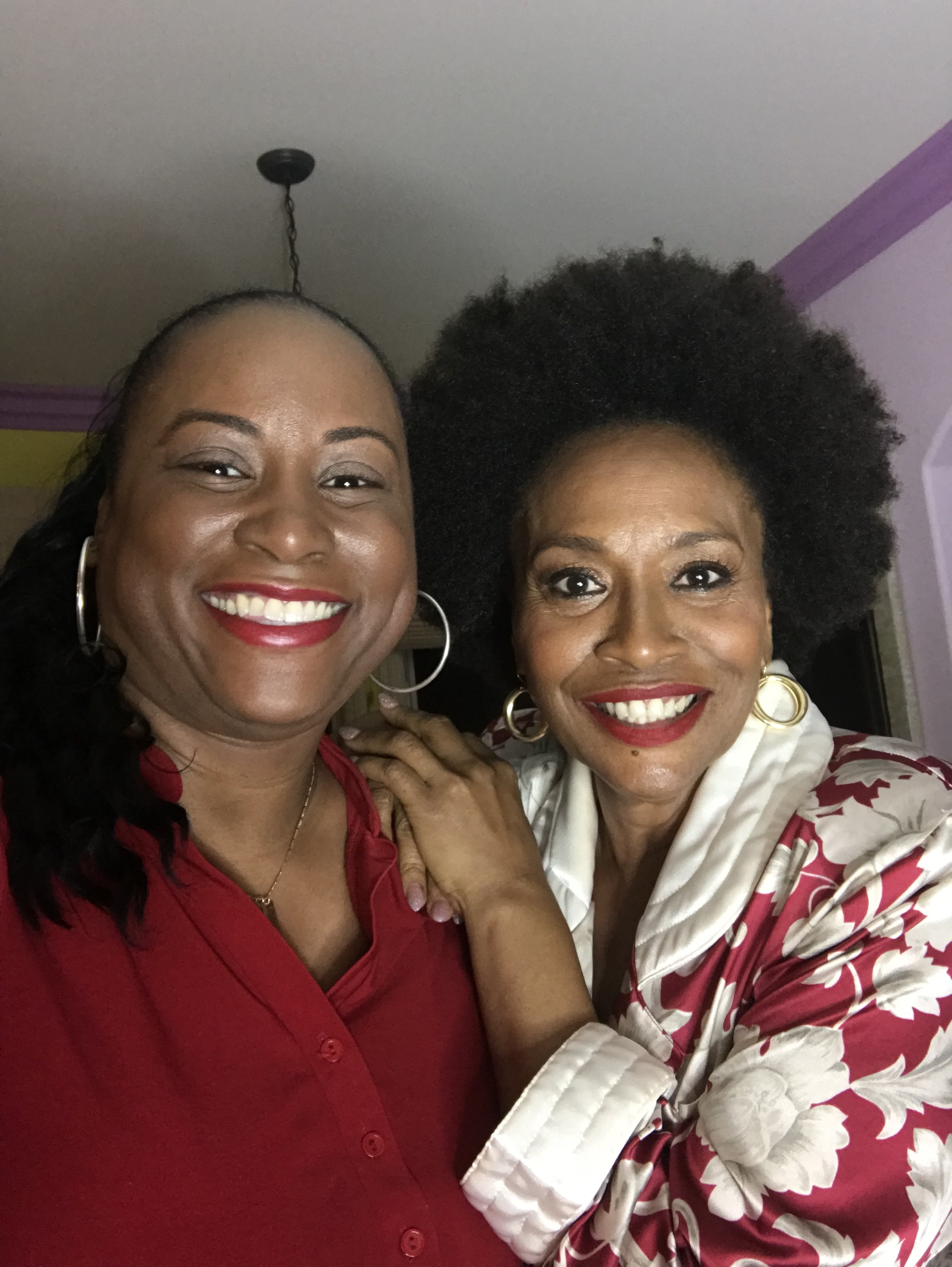 Quencie and Jenifer Lewis at her home in LA