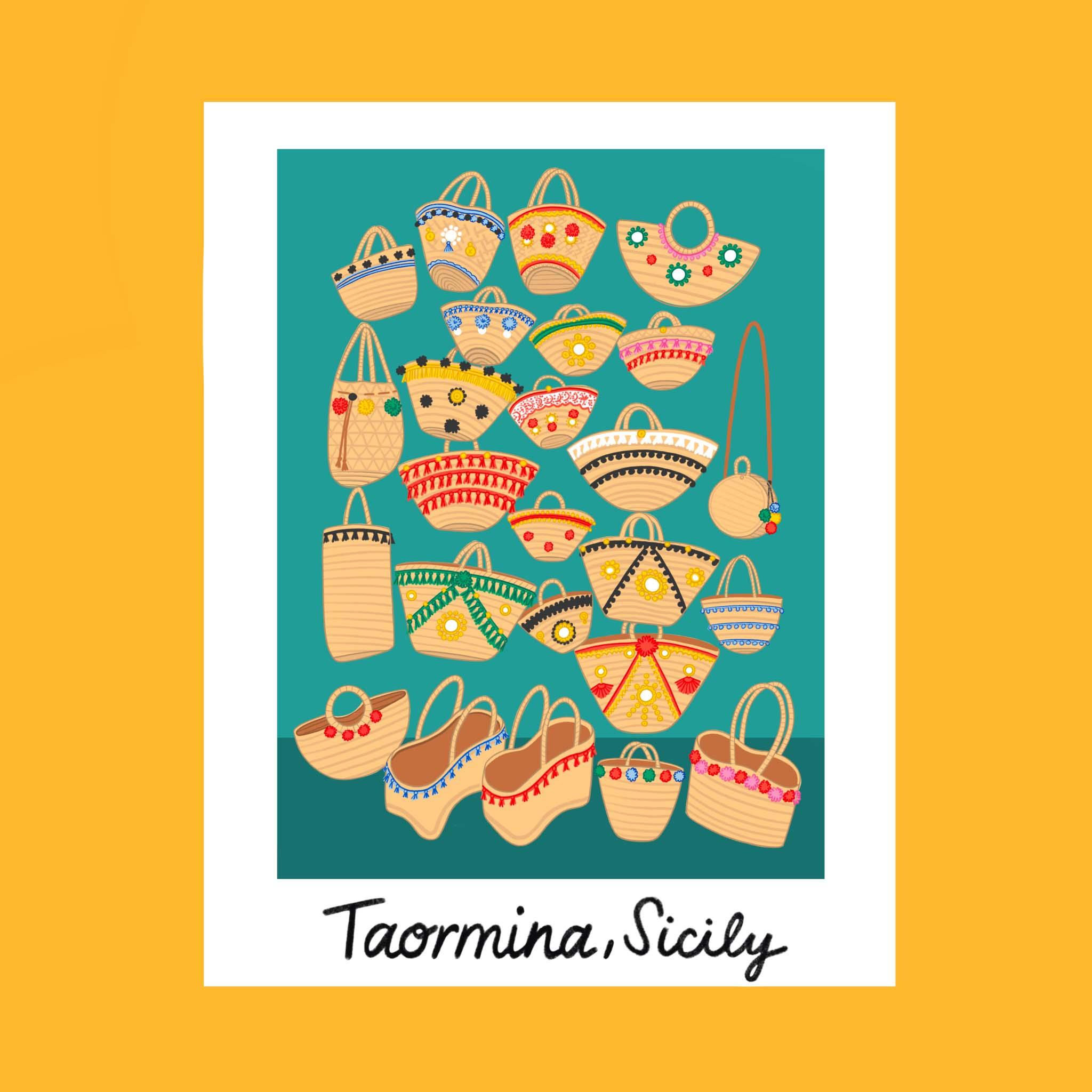 Copy of Traveling iPad drawing series: Taormina, Sicily