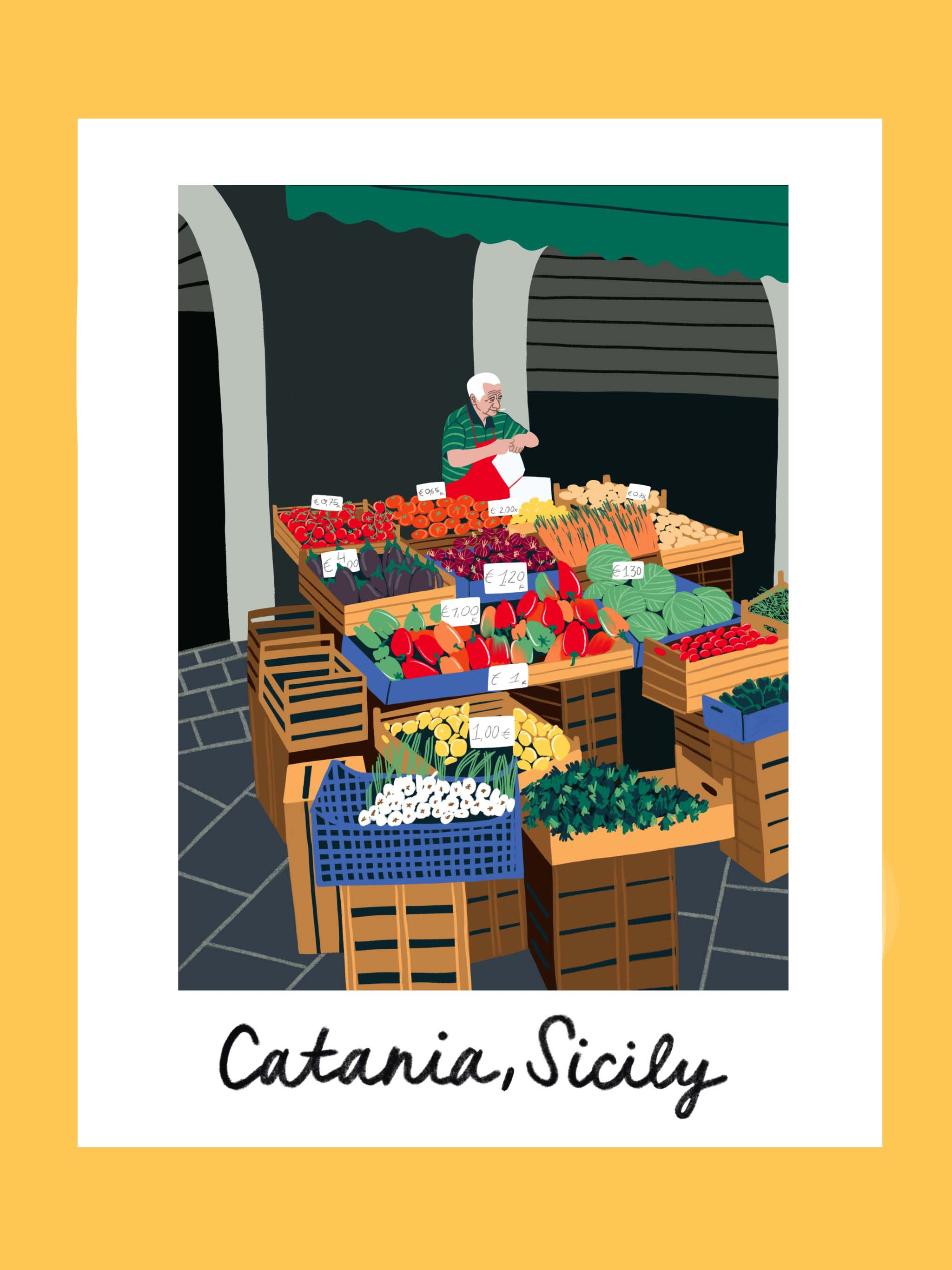 Copy of Traveling iPad drawing series: Catania, Sicily