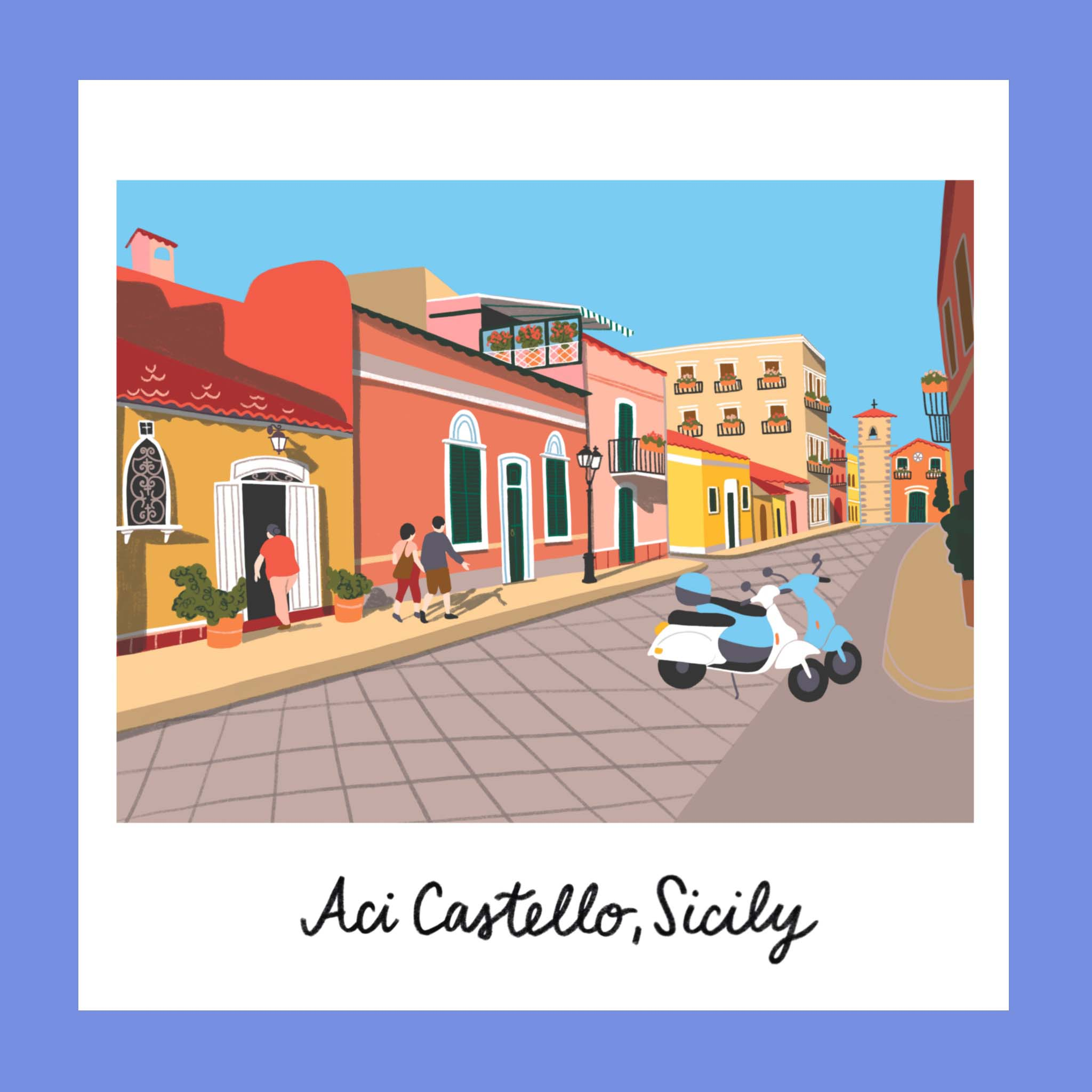Copy of Traveling iPad drawing series: Ace Castello, Sicily