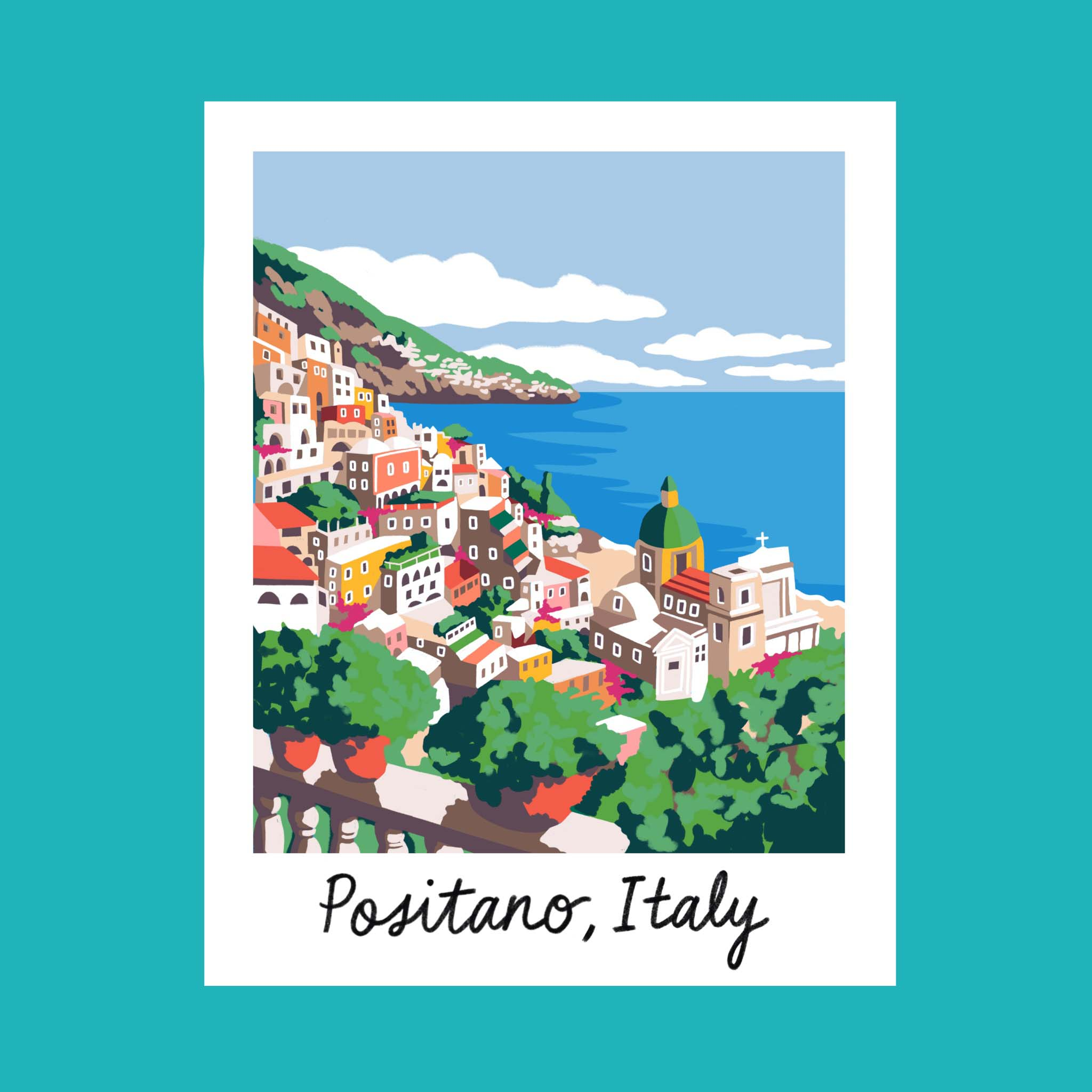 Copy of Traveling iPad drawing series: Positano, Italy
