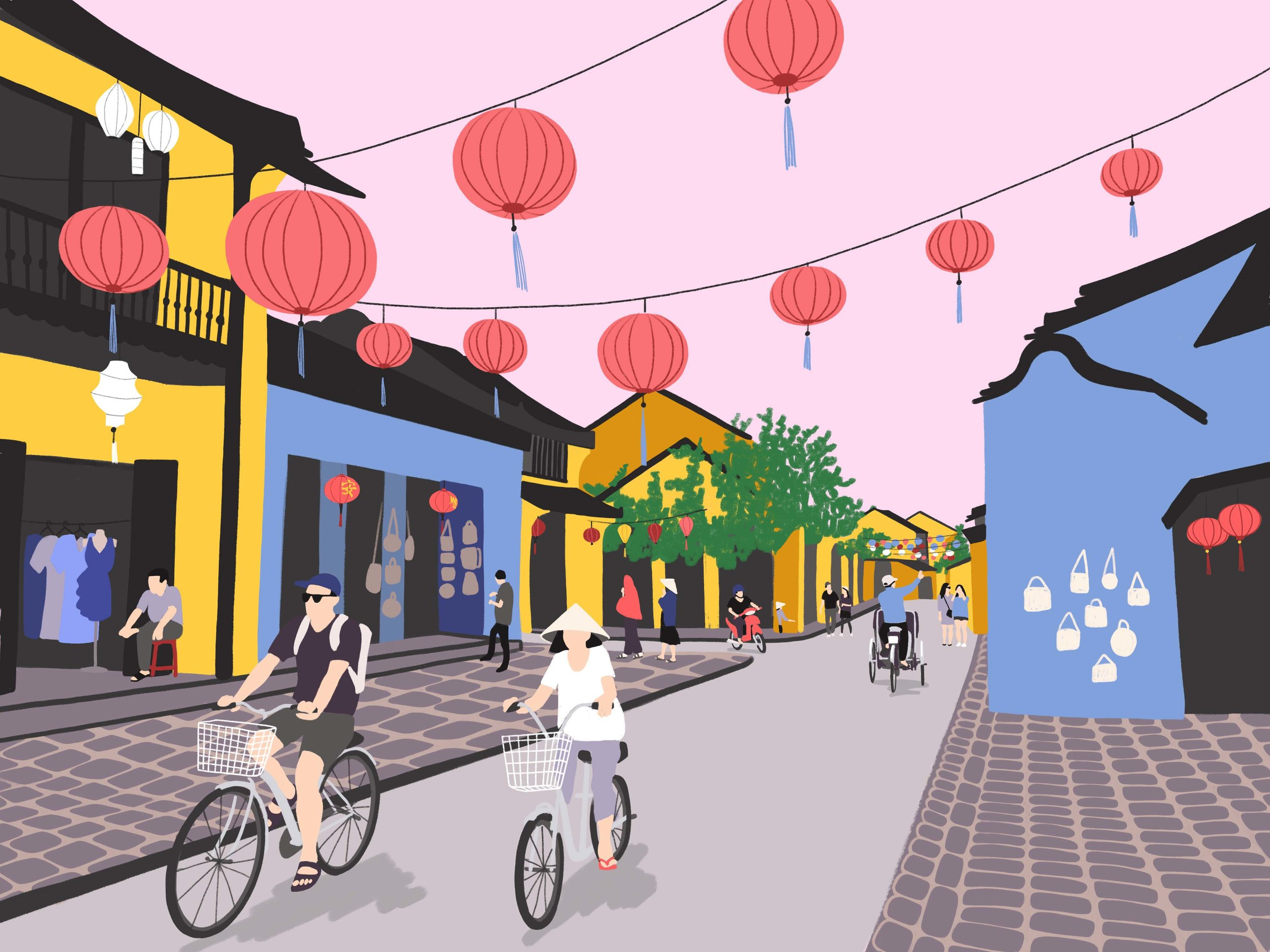 Copy of Traveling iPad drawing series: Hoi An, Vietnam