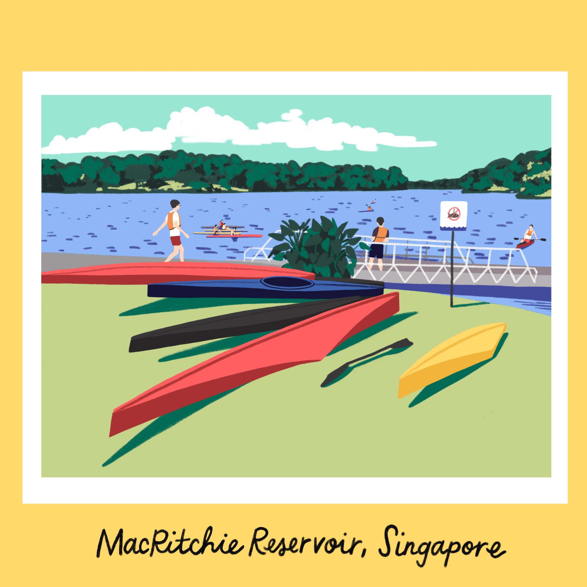 Copy of Traveling iPad drawing series: Singapore