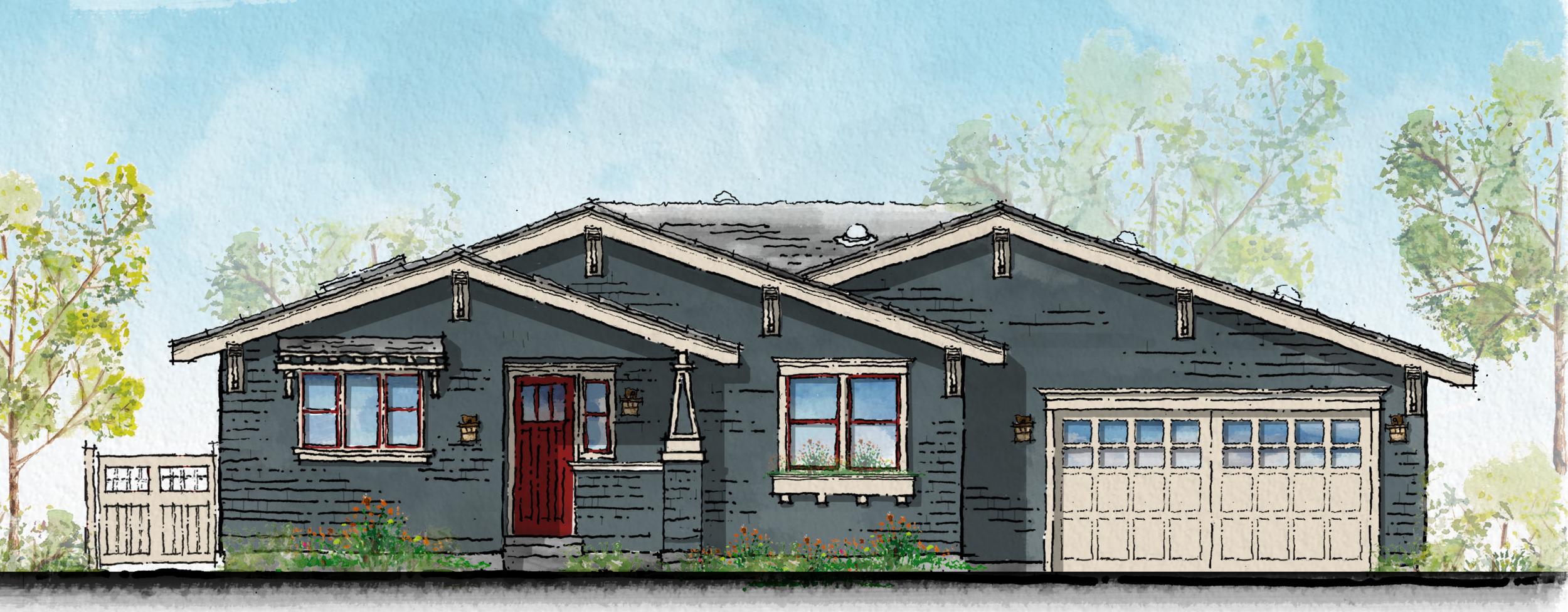 San Luis Obispo Craftsmen Home Front Elevation.png