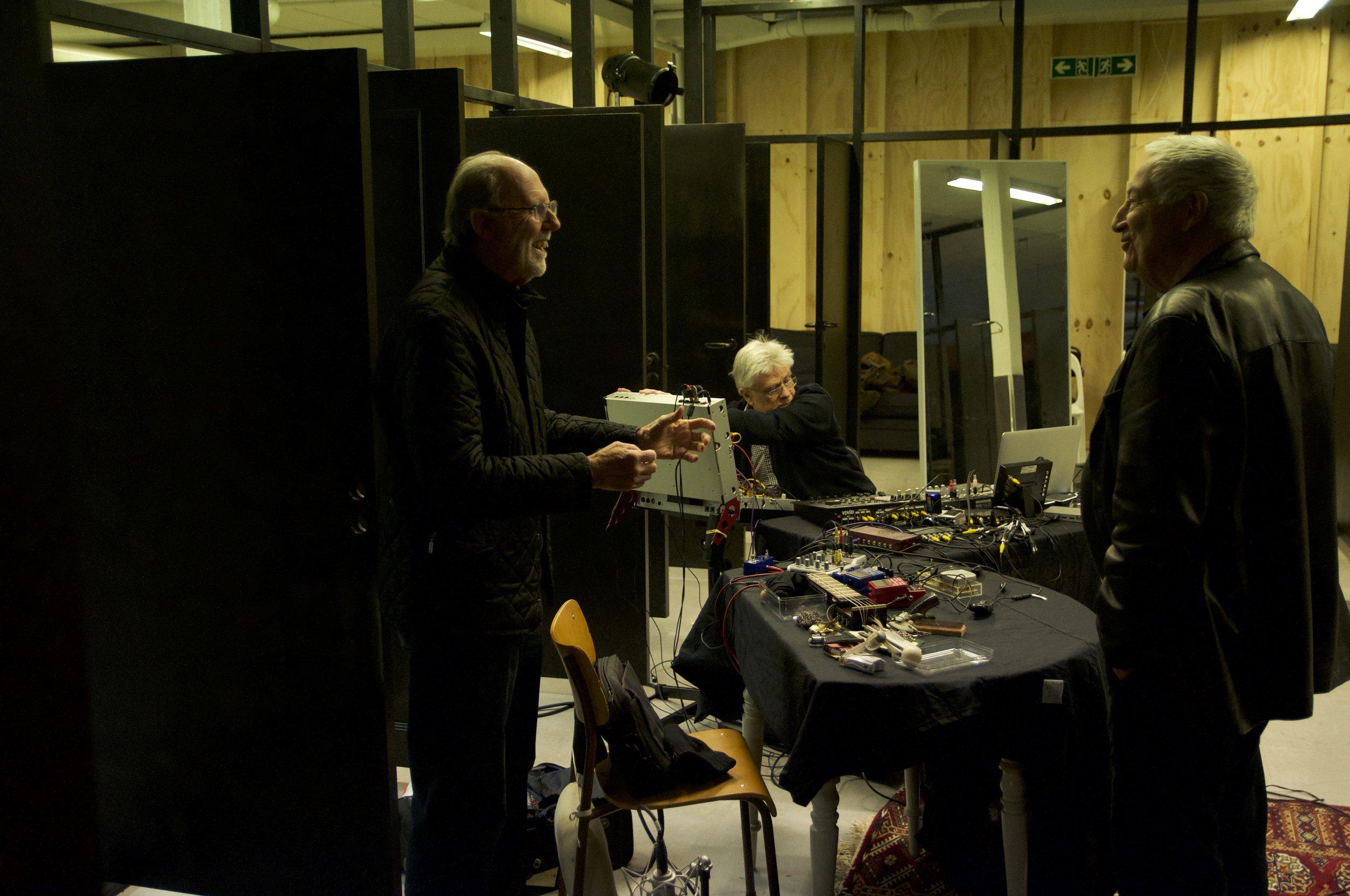 Keith Rowe, Kjell Bjørgeengen and John Tilbury