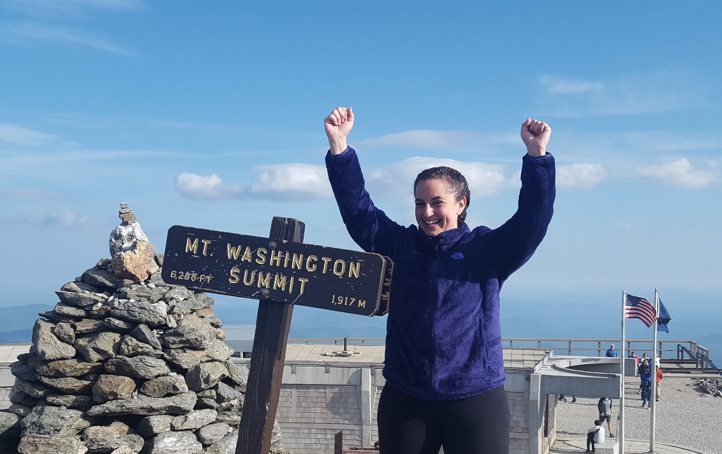 Leslie on top of Mt. Washington