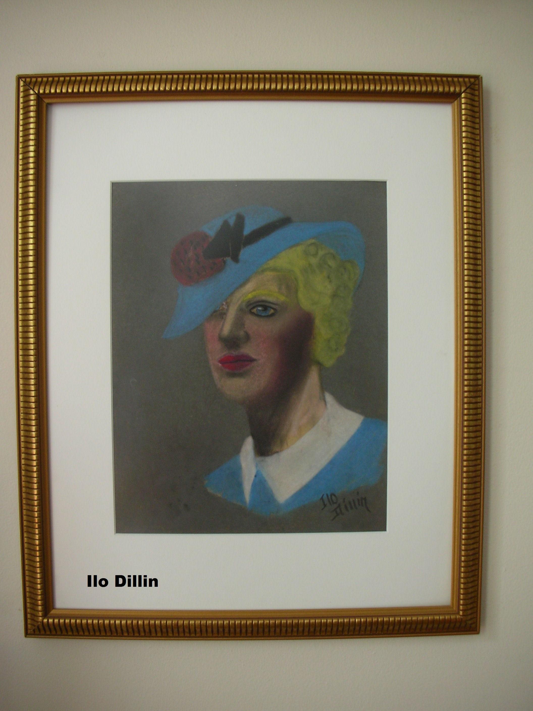 Dillin, Ilo pastel of  lady in  blue 2.jpg