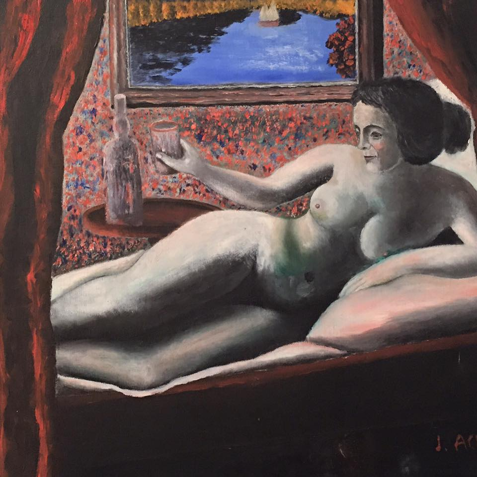 J. Ackerman, Reclining Nude, ca. 1940s-'50s, gift of Ricco/Maresca Gallery