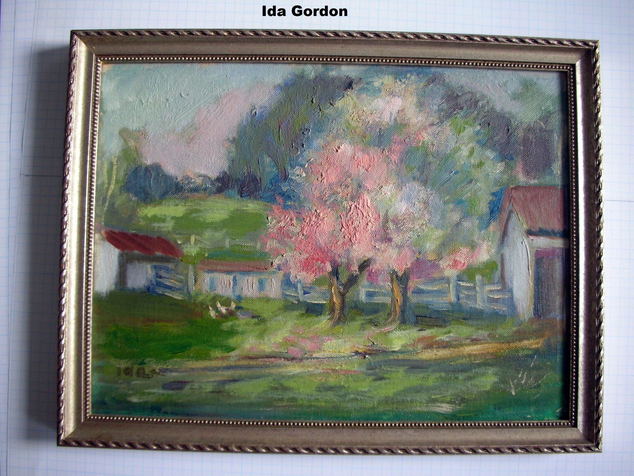 Gordon, Ida-2  pink blossoms oil of board.jpg