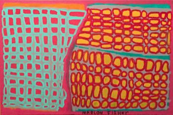 Marlon Fisher, A Frame, Acrylic on Canvas, 2015.