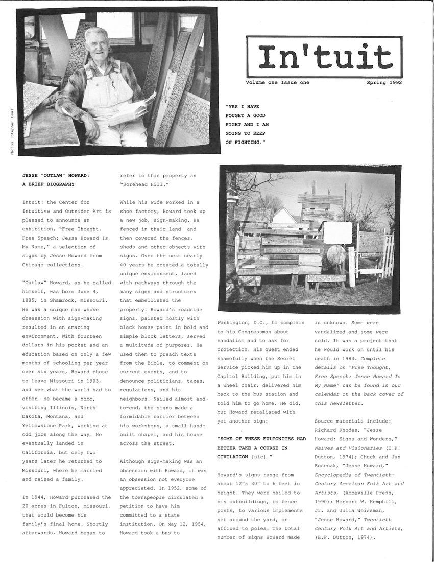 Volume 1 Issue 1 1992