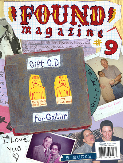 Found Magazine cover featuring cut out collage