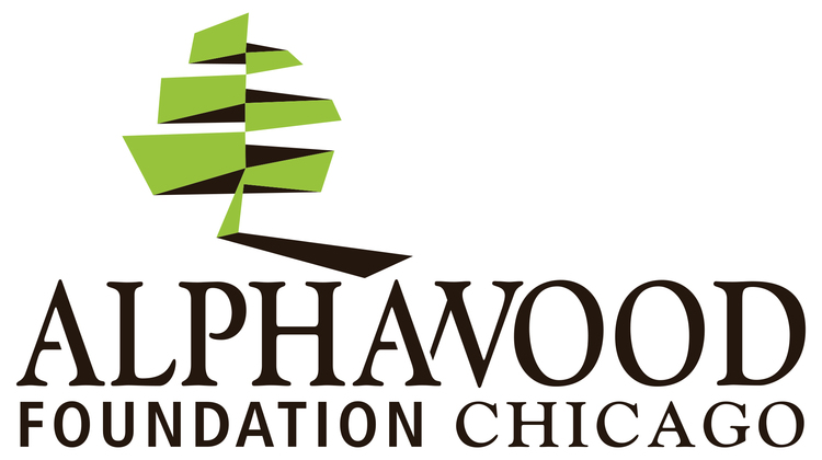 Logo. Links to Alaphawood Foundation Chicago.