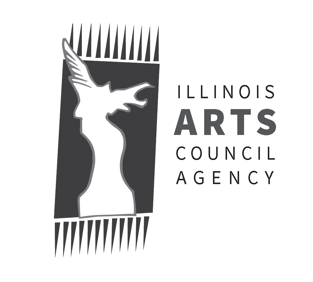 Logo. Links to Illinois Arts Council Agency.