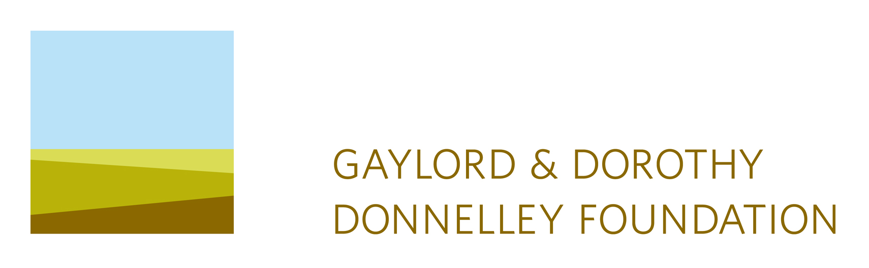 Logo. Links to Gaylord & Dorothy Donnelley Foundation.
