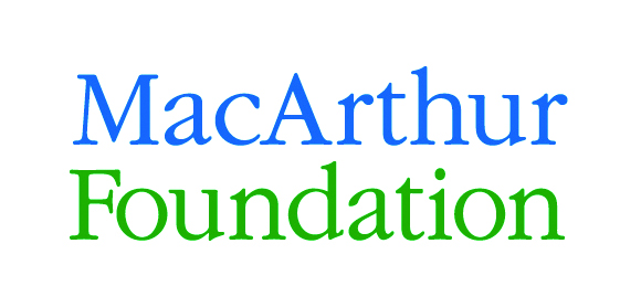 Logo. Links to MacArthur Foundation.