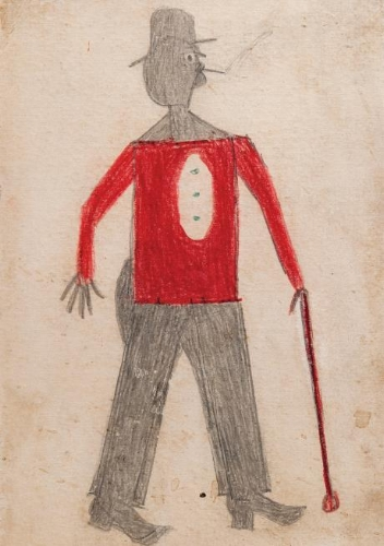 Art by Bill Traylor, Collection of Judy Saslow.