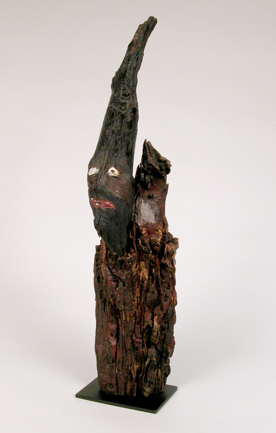 Ralph Griffin (American, 1925-1992).  Untitled (Root sculpture) , ca. 1984. Painted wood, 28 x 6 x 8 in. Intuit: The Center for Intuitive and Outsider Art, gift of Shari Cavin-Morris and Randall Morris, 2004.42