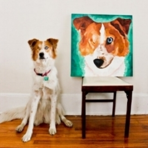 Dog portrait by Katie Romans