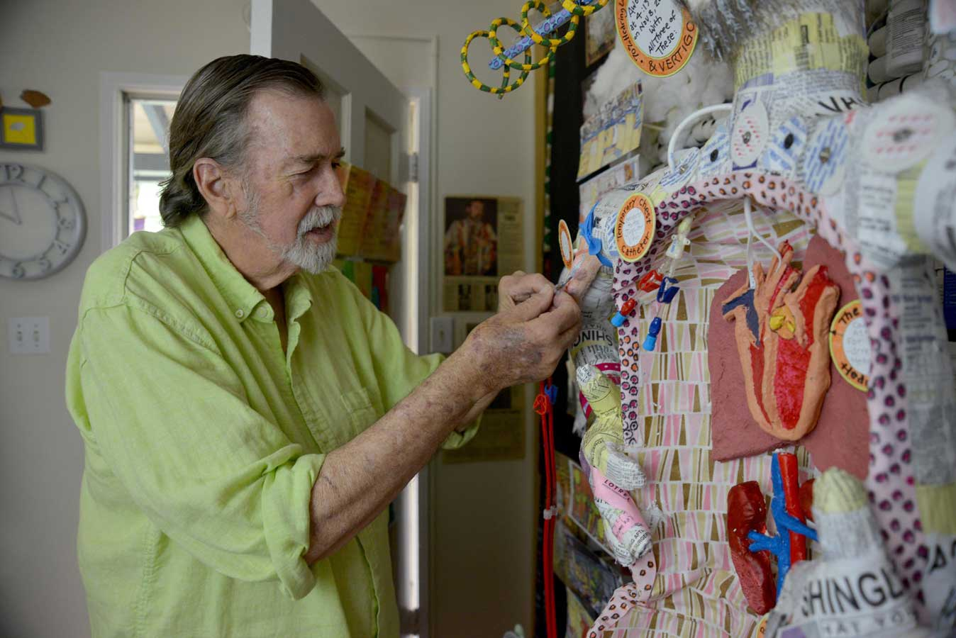 Thousands of hours of medical treatment inspired artist Philip Carey - 4/11/18