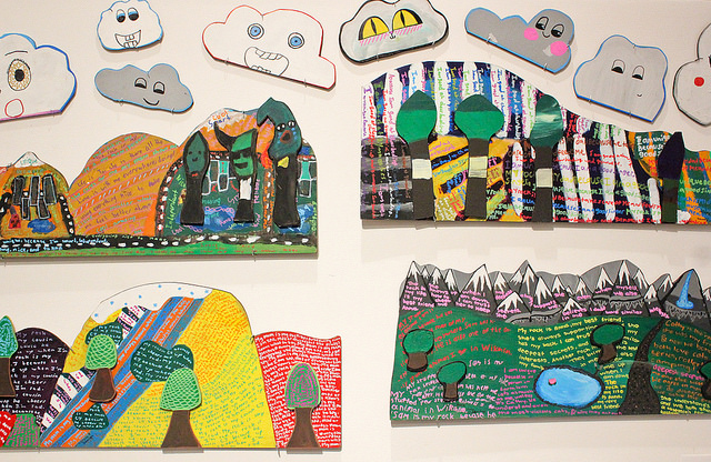 Student landscapes inspired by outsider art