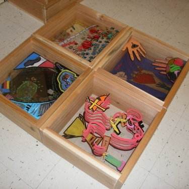 Maps of our life journeys - shadow boxes.jpg