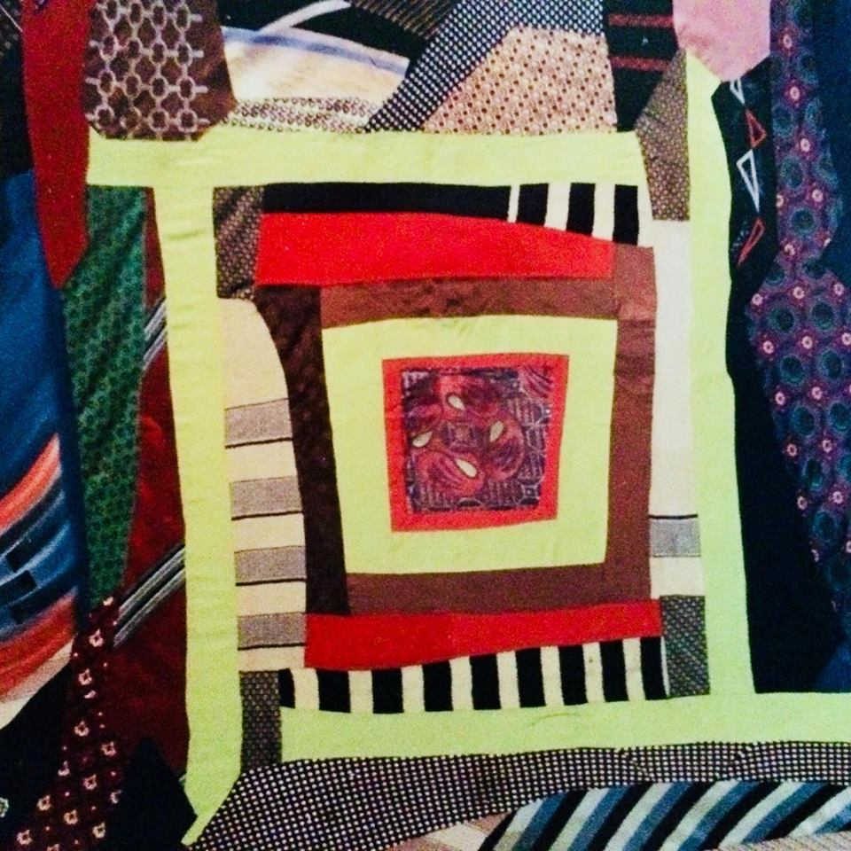 Anonymous African American quilt made from ties c. 1940-1950, courtesy of Judith Racht Gallery